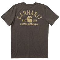 Carhartt Boy's Heather Logo Graphic Short-Sleeve T-Shirt
