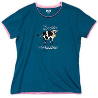 Lazy Ones Women's I'm Mooody in the Morning Sleep T-Shirt