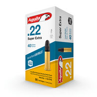 Aguila Super Extra 22 LR 40 Grain Lead Solid Point Ammo (50)