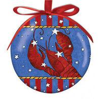Cape Shore Spliced Ball Festive Lobster Ornament