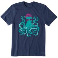 Life is Good Men's Superpower Octopus Short-Sleeve Sleep T-Shirt