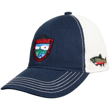 Maine Inland Fisheries and Wildlife Mens Trout Snapback Trucker Hat