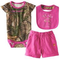 Carhartt Infant/Toddler Girls' Wild Thing Set, 3pc