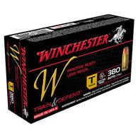 Winchester W Train & Defend 380 Auto 95 Grain FMJ Training Handgun Ammo (50)
