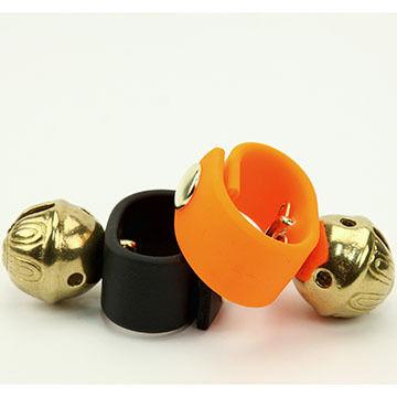 New England Bells #2-Size Dog Collar Bell - Black Strap