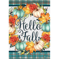 Carson Home Accents Hello Fall Wreath Garden Flag