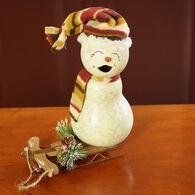Meadowbrooke Gourds Blizzard Small Girl Snowman Gourd