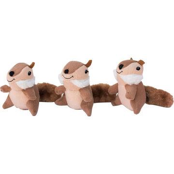 ZippyPaws Miniz Chipmunk Dog Toy - 3 Pk.