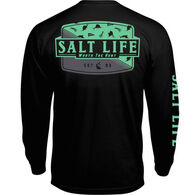 Salt Life Men's Worth the Hunt Pocket Long-Sleeve T-Shirt