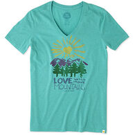 Life is Good Women's Love Move Mountains Cool Short-Sleeve T-Shirt