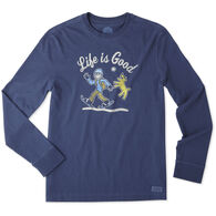 Life is Good Men's Snowshoe Walk Long-Sleeve Crusher T-Shirt