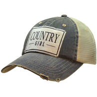 Vintage Life Women's Country Girl Distressed Trucker Hat