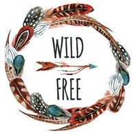 Sticker Cabana Wild And Free Sticker