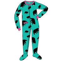 Lazy One Toddler Girls' Timberland Bear Footeez Pajama
