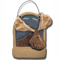 August Ceramics Moose Ornament