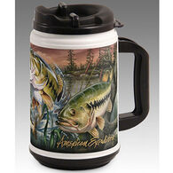 American Expedition Wildlife Collage Series Large Mouth Bass Plastic Thermal Mug