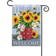 BreezeArt Bandana Sunflowers Decorative Garden Flag