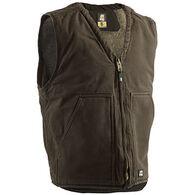 Berne Men's Original Washed Sherpa Lined V-Neck Vest