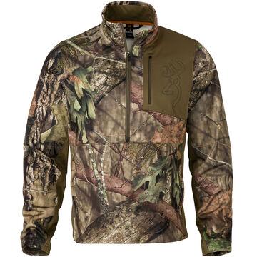 Browning Mens Quick Change 3/4-Zip Pullover Fleece Shirt