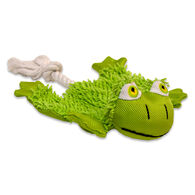 Petlogix Lil Barks Cuddles Cozy Krinkle Frog Puppy & Small Dog Toy