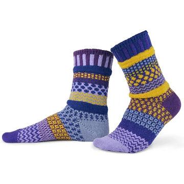 Solmate Socks Womens Purple Rain Crew Sock