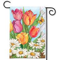 BreezeArt Fresh Tulips Garden Flag