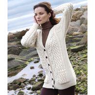 Aran Crafts Women's Boyfriend Cardigan Sweater