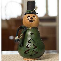 Meadowbrooke Gourds Evergreen Miniature Snowman Gourd