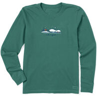 Life is Good Women's Winter on the Water Vintage Crusher Long-Sleeve T-Shirt
