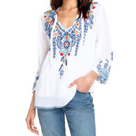 Johnny Was Women's Chelsee Long-Sleeve Blouse Top
