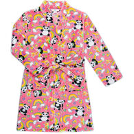 Candy Pink Girl's Panda Fleece Robe