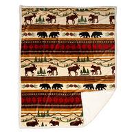 Carstens Inc. Hinterland Plush Sherpa Fleece Throw Blanket