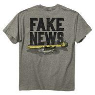 Buck Wear Men's Fake News Fish Short-Sleeve T-Shirt