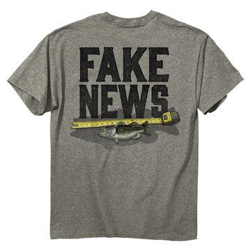Buck Wear Mens Fake News Fish Short-Sleeve T-Shirt