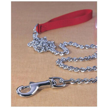 Hamilton Steel Chain Nylon Handle Dog Lead
