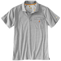 Carhartt Men's Force Cotton Delmont Pocket Polo Short-Sleeve Shirt