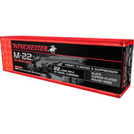 Winchester M-22 Subsonic 22 LR 45 Grain Black Copper-Plated RN Ammo (100)