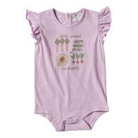Carhartt Infant Girl's Flutter Sleeve Short-Sleeve Bodyshirt