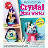 Grow Your Own Crystal Mini Worlds by Klutz