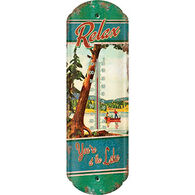 Rivers Edge Relax You're at the Lake Tin Thermometer