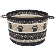 Capitol Earth Paw Prints Braided Utility Basket