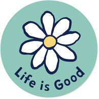 "Life is Good Daisy 4"" Circle Sticker"