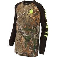 Carhartt Boys' Camo Raglan Long-Sleeve T-Shirt