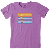 Life is Good Women's Ocean Spectrum Crusher Short-Sleeve T-Shirt
