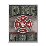 Desperate Enterprises Real Heroes Firemen Tin Sign