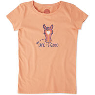 Life is Good Girls' Horse Love Crusher Short-Sleeve T-Shirt
