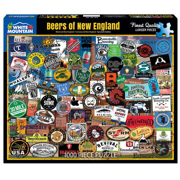 White Mountain Jigsaw Puzzle - Beers of New England