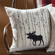 Park Designs Moose And Birch Tree Pillow