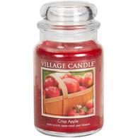 Village Candle Large Glass Jar Candle - Crisp Apple