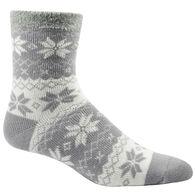 Woolrich Men's Aloe Vera Snowflake Double Layer Sock